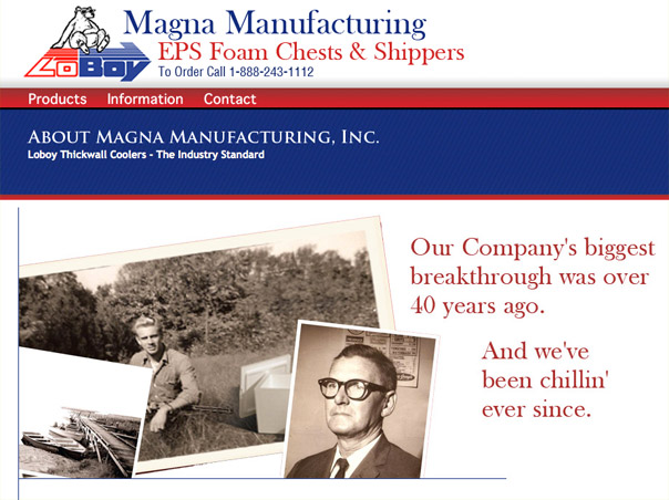 Screenshot of the Magna Manufacturing website