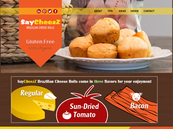 Screenshot of the SayCheezZ website